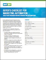 Marketing automation buyers checklist