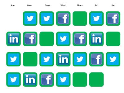 social media schedule calendar