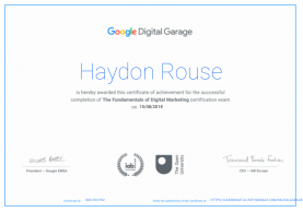 Google Digital Marketing certificate